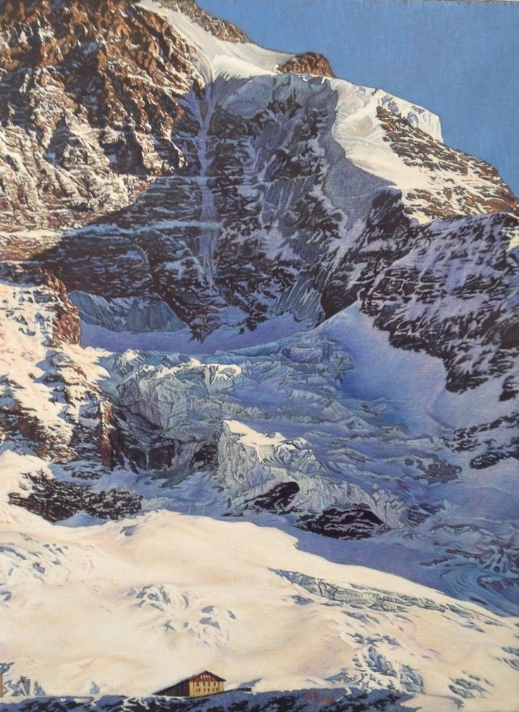 The Moench above the Eiger Gletscher'. Oil on canvas. David Margulies