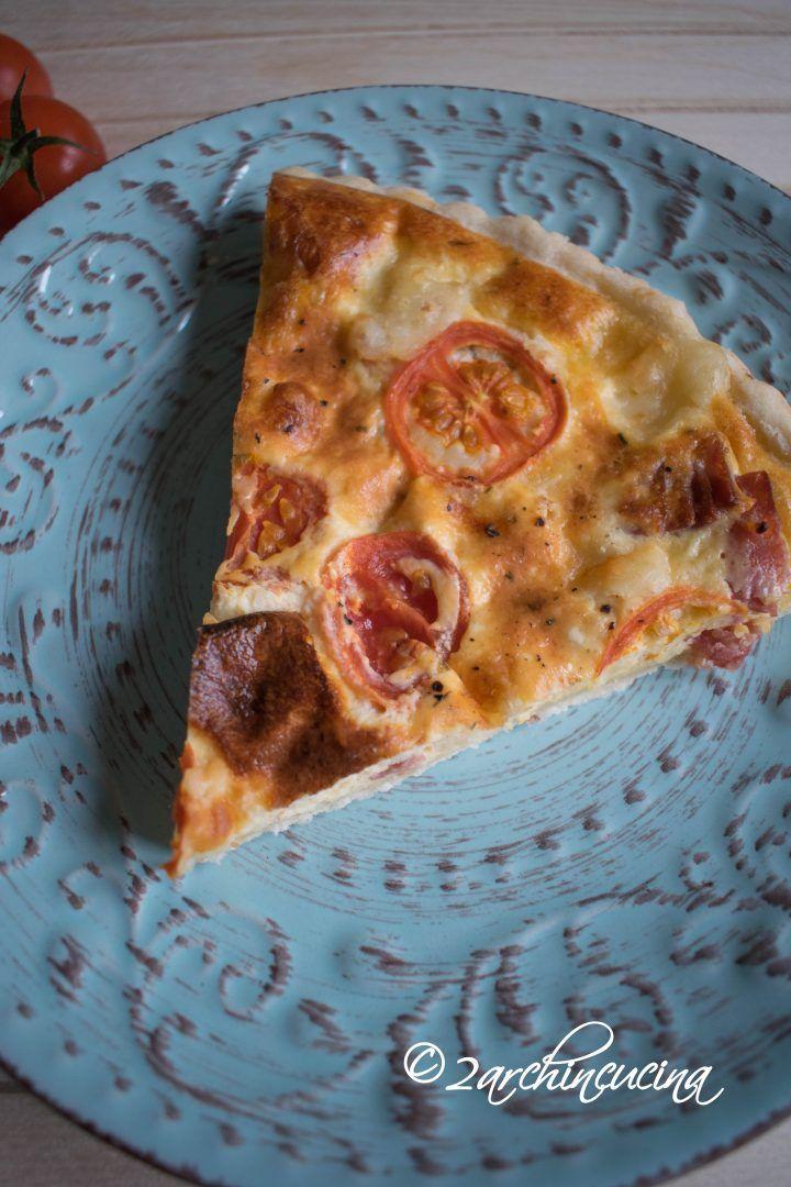 #Quiche con #salame, #asiago e #pomodorini - #Ricetta #facile #easy #recipe