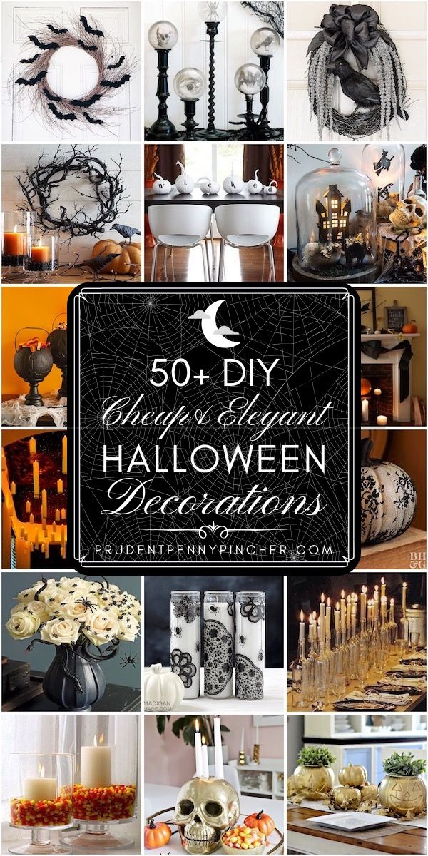 50 Cheap And Elegant Halloween Decorations Elegant Halloween Decor Halloween Decorations Diy Halloween Decorations