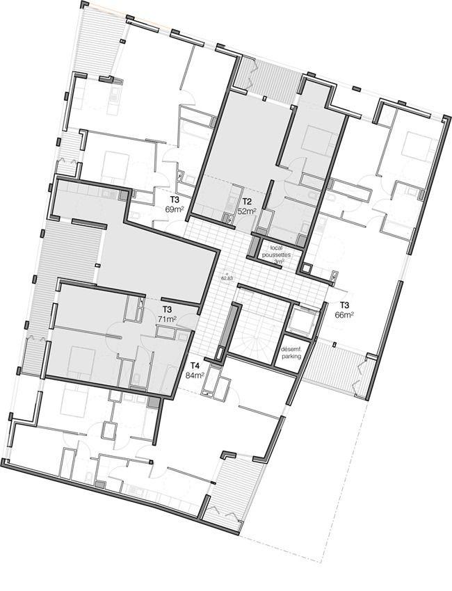 Localisation Rue Albes - Marseille (13) / France Maîtrise(s) d'ouvrage 13 Habitat Maîtrise d'œuvreAtelier Calas et Jean-Pierre Manfredi architectes associ