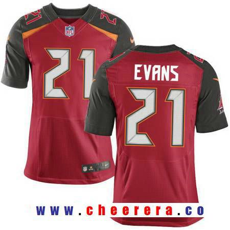 Men's 2017 NFL Draft Tampa Bay Buccaneers #21 Justin Evans Red Team Color Stitched NFL Nike Elite Jersey