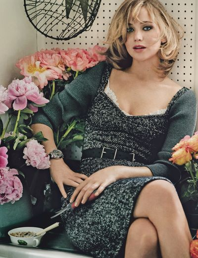 Jennifer Lawrence photographed by Mario Testino in Vogue September 2013