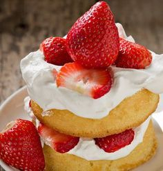 RECIPE: Mile-High Strawberry Shortcake | Celebrate strawberry season with this dessert that puts the freshly picked fruit at centre stage. | Recipes from New Brunswick, Canada