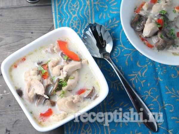 Тайский куриный суп-палео