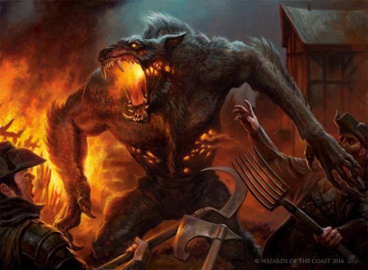 Smoldering Werewolf - Eldritch Moon MtG Art