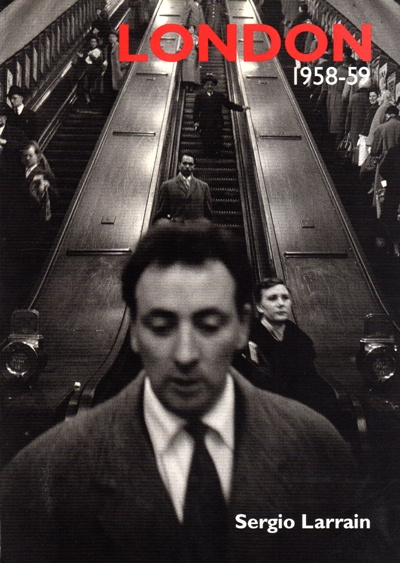 London 1958-59 is a documentary photography book about London life during these years through the lens of a foreigner photographer.    Chilean photographer Sergio Larrain (1931),  who is one of the members of MAGNUM agency and who visited London in 1958-59, documented a black and white portrait of this big city during his visit. The first UK edition of the book published in 1998 by Dewi Lewis Publishing.