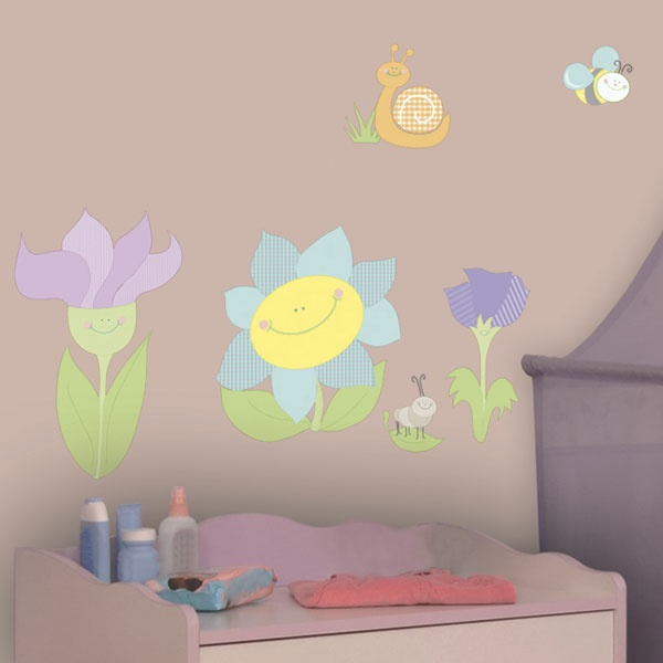 Smiling Flowers | Stickers murali, Adesivi decorativi, Wall Stickers