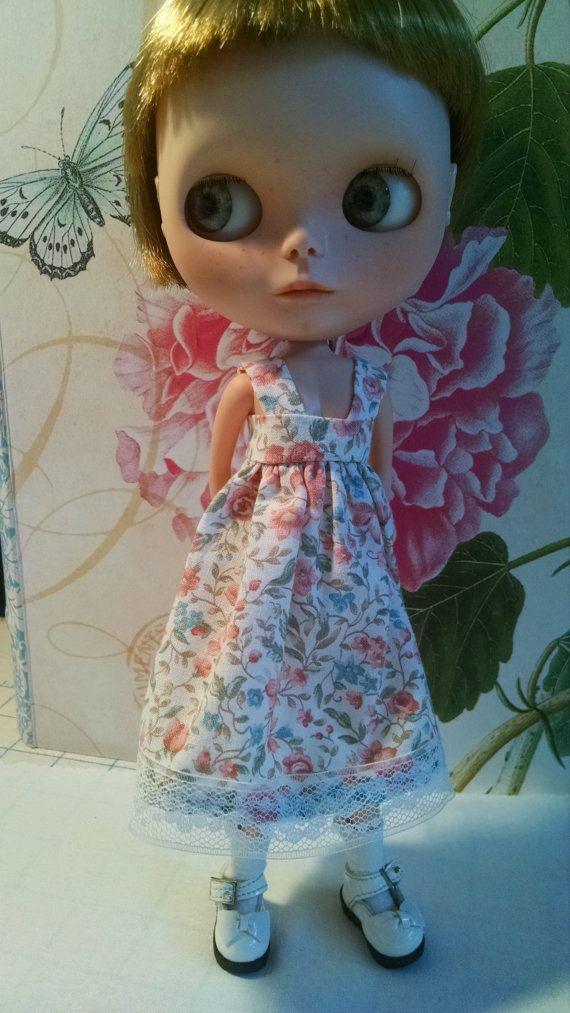 Blythe Doll jarní šaty a svetr Set