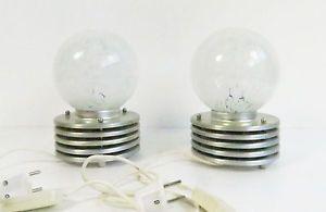 COPPIA di ITALIANO VINTAGE MURANO GLASS LAMPADE DA TAVOLO IN STILE MAZZEGA -- 1960's