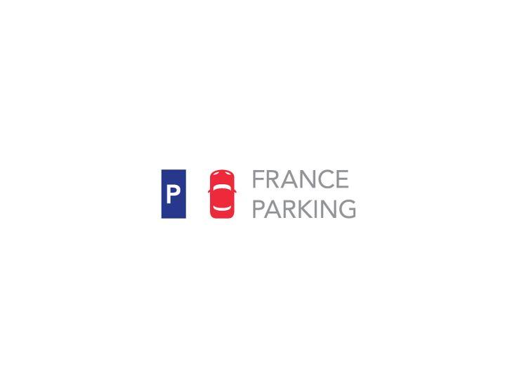 Unused concept for France Parking. P + Car = Flag of France