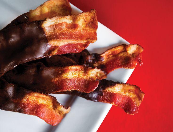 Chocolate-Dipped Bacon at Soda Jerks