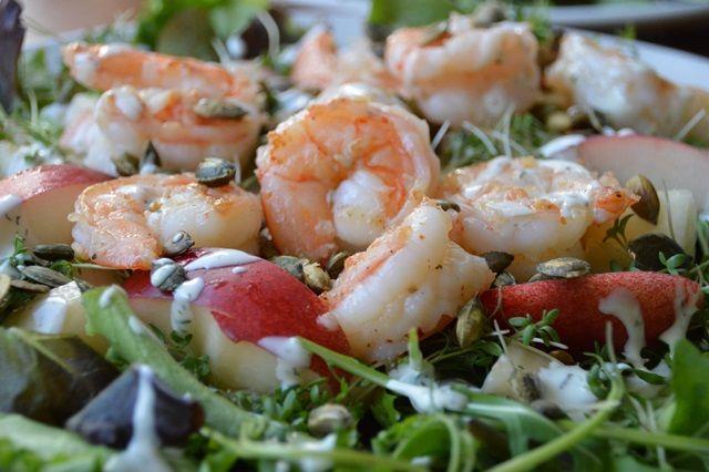 Garnalen Nectrine Salade | Oerkracht - Paleo, Puur & meer