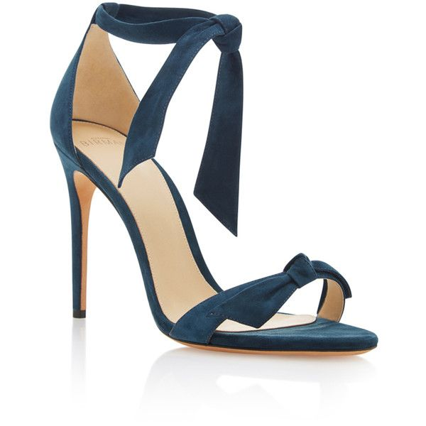 Alexandre Birman Clarita Suede Sandals (1.025 BRL) ❤ liked on Polyvore featuring shoes, sandals, blue, suede shoes, alexandre birman, alexandre birman sandals, blue suede shoes and alexandre birman shoes