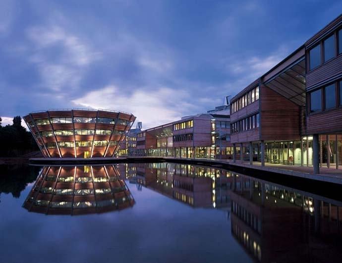 Jubilee Campus, University of Nottingham, England by Hopkins Architects