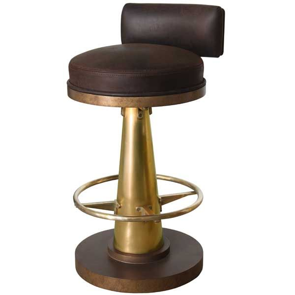 Brass Cone Bar Chair With Brass Footrest Copper Bar Stools Bar Chairs Copper Bar