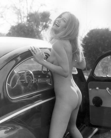 Nude girl in motorhome
