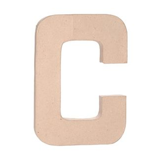 product 12 inch letters paper mache letter c
