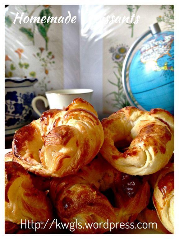 Croissants faits maison (Croissants faits maison)   Fait maison, Alimentation, Croissants