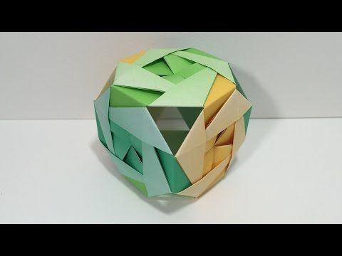 ハート 折り紙:ふしぎな球体 立体折り紙-jp.pinterest.com