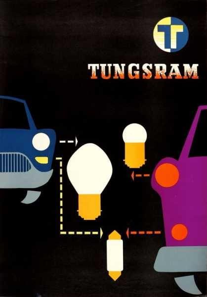 Tungsram lámpák izzók retro plakát poster