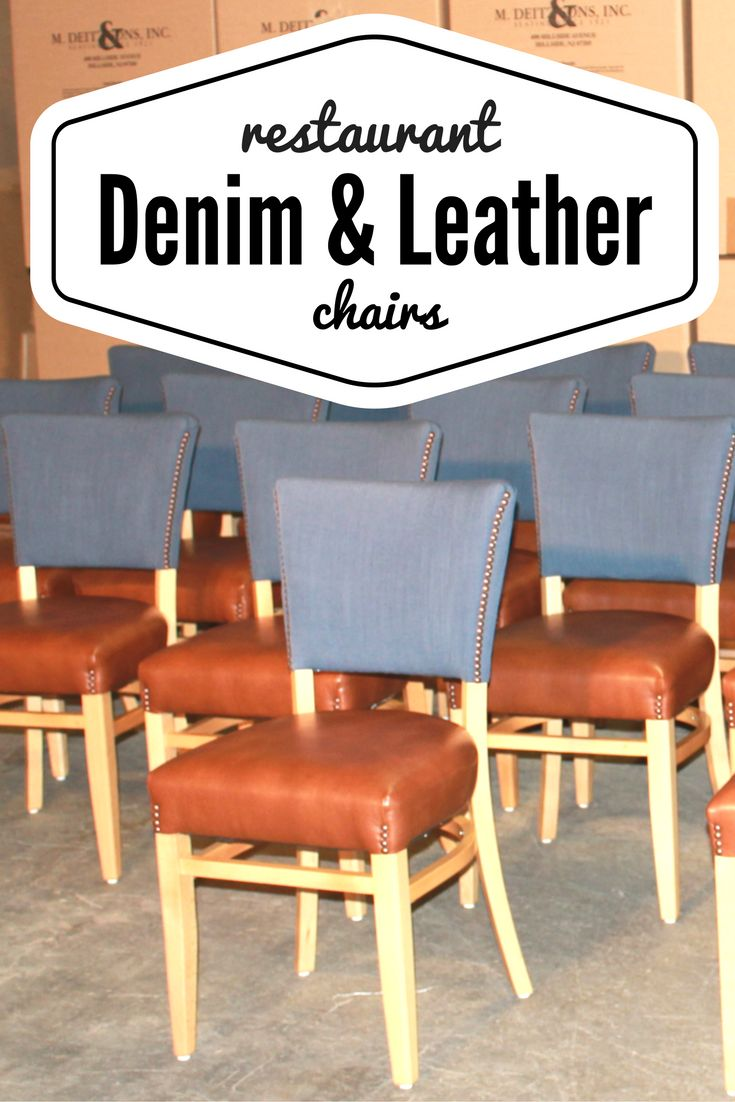 faux leather restaurant dining chairs. denim and leather are a classic combo! these custom-crafted restaurant chairs, model faux dining chairs u