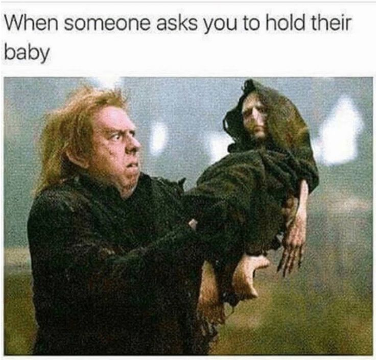I'm not like that but this is why I don't ask people to hold my baby, even though he's LITERALLY the cutest ;)