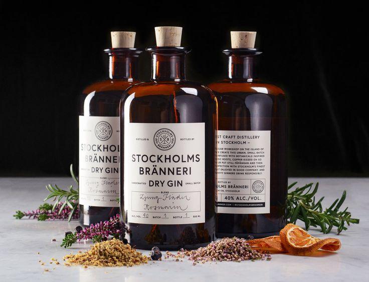 Stockholms Bränneri Gin — The Dieline - Branding & Packaging Design