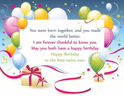 birthday wishes for twin sisters http://www.wishesquotez.com/2017/01/happy-birthday-wishes-images-with-quotes-and-text-messages-for-twins-boy-and-girl.html