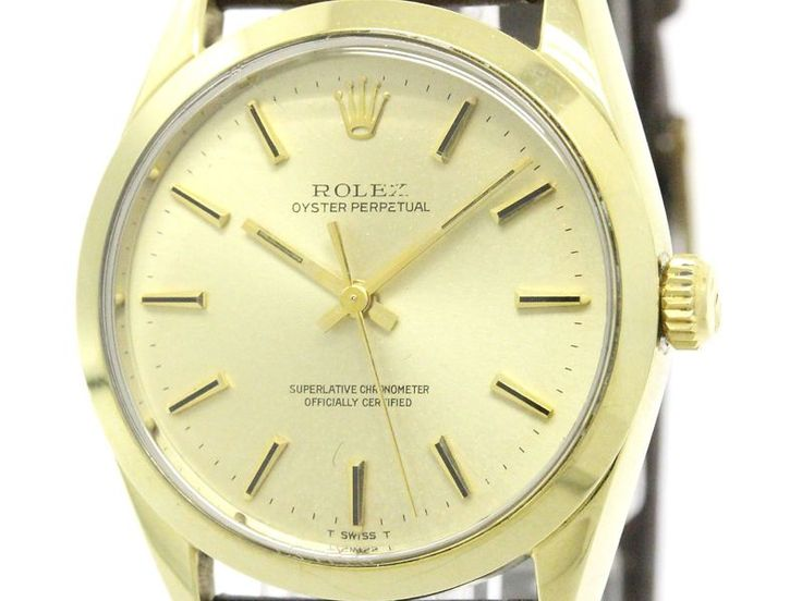 Vintage ROLEX Oyster Perpetual 1024 Gold Plated Automatic Mens Watch (BF113879) #eLADY global offers free shipping worldwide. For more pre-owned luxury brand items, visit http://global.elady.com