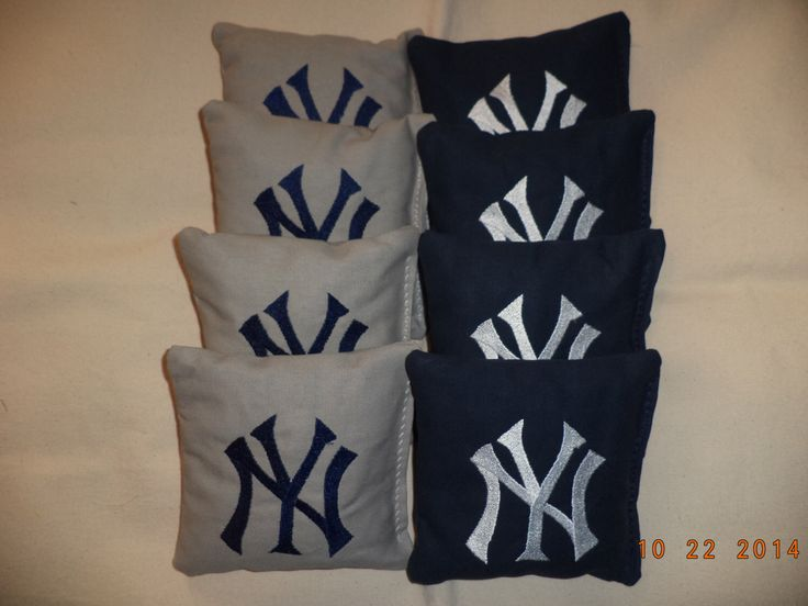 Cornhole Bags New York Yankee Corn Hole Bean 8 ACA Regulation By Oddsandends2010