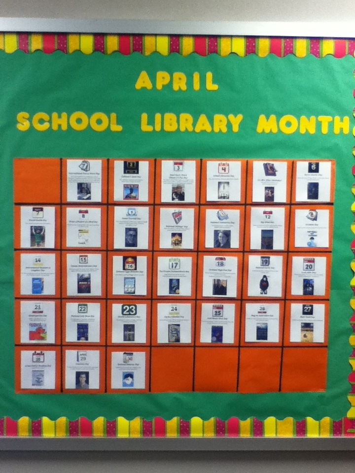 Calendar Bulletin Board Ideas Middle School : Best library display ideas images on pinterest