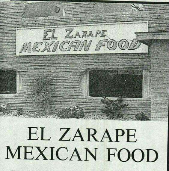 Old EL Zarape Mexican Restaurant (Pintrest) at 11th & Park Ave