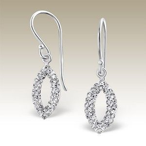 Silver earrings with crystal stones - CCER-APS1448/16473