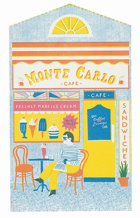 Monte Carlo Cafe ice cream parlour on a British High Street - Up My Street…