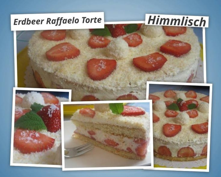 top 25 best erdbeer raffaello torte ideas on pinterest erdbeer nachtisch erdbeer mascarpone. Black Bedroom Furniture Sets. Home Design Ideas