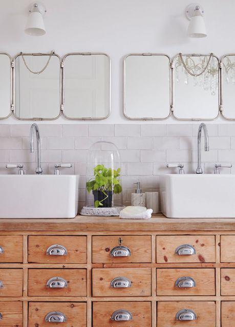 17 meilleures id es propos de meubles anciens sur - Customiser un meuble de salle de bain ...
