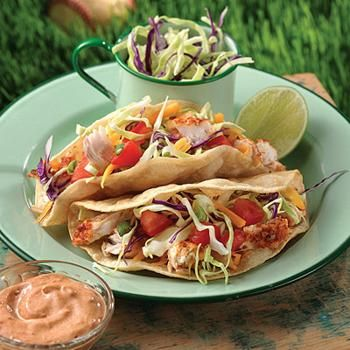 Grilled Fish Tacos Recipe - Land O'Lakes & ZipList