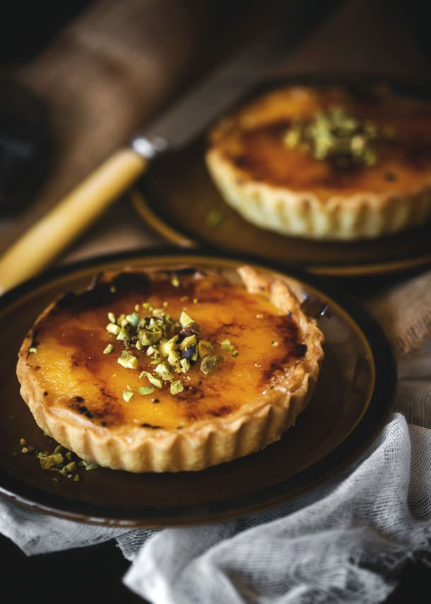 Ginger Brulée Tart - Baking Club October Challenge (A Table For Two) #recipe
