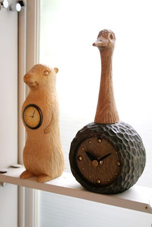 プレーリー時計 & ダチョウ時計