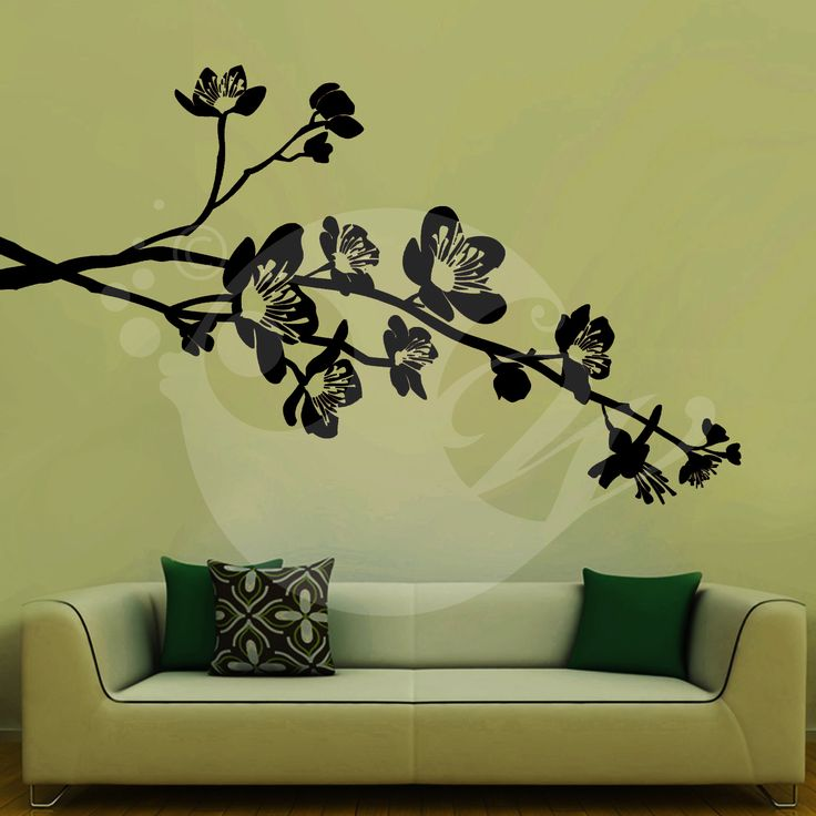 With this Flowers On Branch Wall Sticker Decal you can decorate your walls in one of the most modern and elegant ways