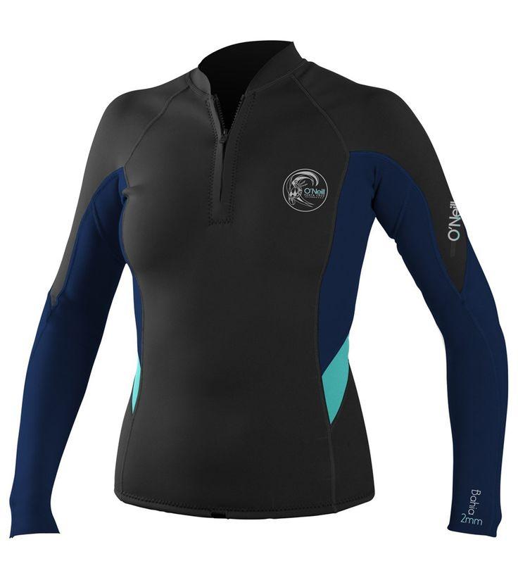 1mm Women's O'Neill BAHIA Front-Zip Wetsuit Jacket