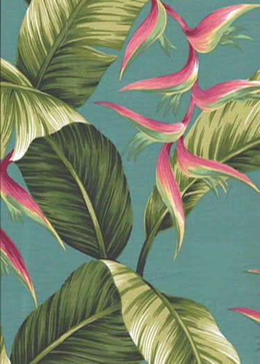 80pa lule is a cotton poplin Hawaiian fabric with a aqua background. Add Discount code: (Pin10) in comment box at check out for 10% off sub total at BarkclothHawaii.com