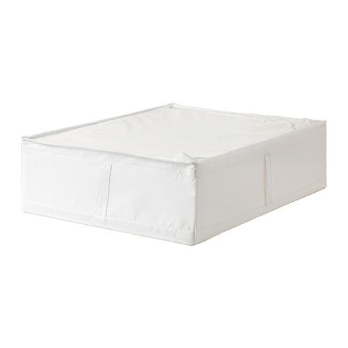 IKEA - SKUBB, Storage case, white, 69x55x19 cm, , You can even keep the storage case under the bed.