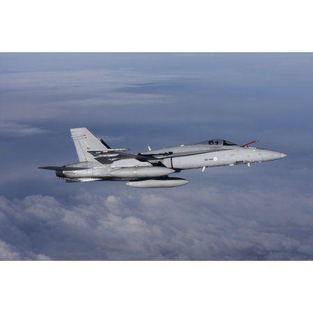 F-18 Hornet of the Finnish Air Force Canvas Art - Daniel KarlssonStocktrek Images (18 x 12)