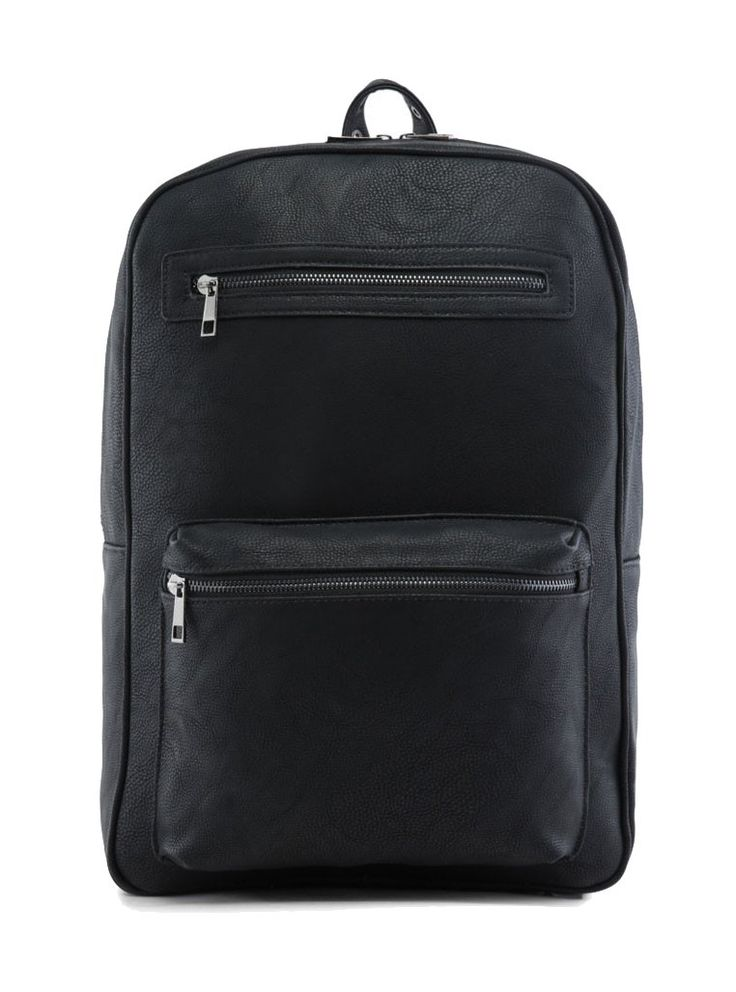 Faux Leather Backpack by ZALORA has a simple design but eye catching, metal eyelets and buckle fastening, this black backpack made from synthetic leather, spacious compartment for your thing, 2 front pocket, internal zip pocket, adjustable shoulder straps. http://www.zocko.com/z/JG9x5