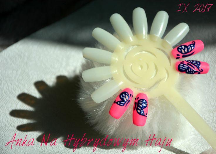 https://www.facebook.com/AnkaNaHybrydowymHaju/  #paznokcie #pazurki #manicure #hybrydy #AnkaNaHybrydowymHaju #Nails     #Nailart #wzorek #wzorki  #motyl #motylek #motylki #butterfly #butterflies