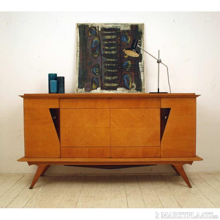 Decoratief vintage dressoir retro frans design art deco huis en inrichting - Deco eigentijds design huis ...