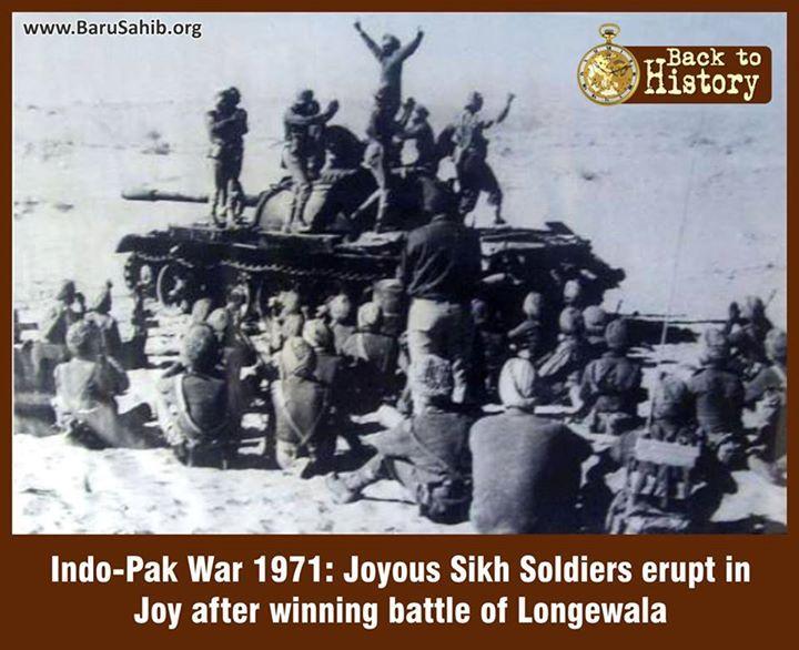 Indo-Pak War 1971: Joyous Sikh Soldiers erupt in Joy after winning battle of Longewala