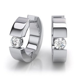 DiamondWave  Diamond Huggie Earrings in 14k White Gold. (1/3 ctw)  Be the first to review this item  List Price: $1,599.99  Price: $1,079.99