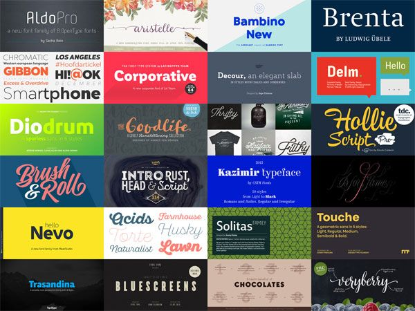 Best Fonts 2015 - List of Best Font Releases from 2015